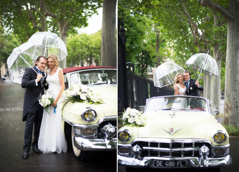 Photographer in Paris rain in Paris