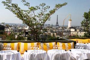 rooftop con vista a la Torre Eiffel