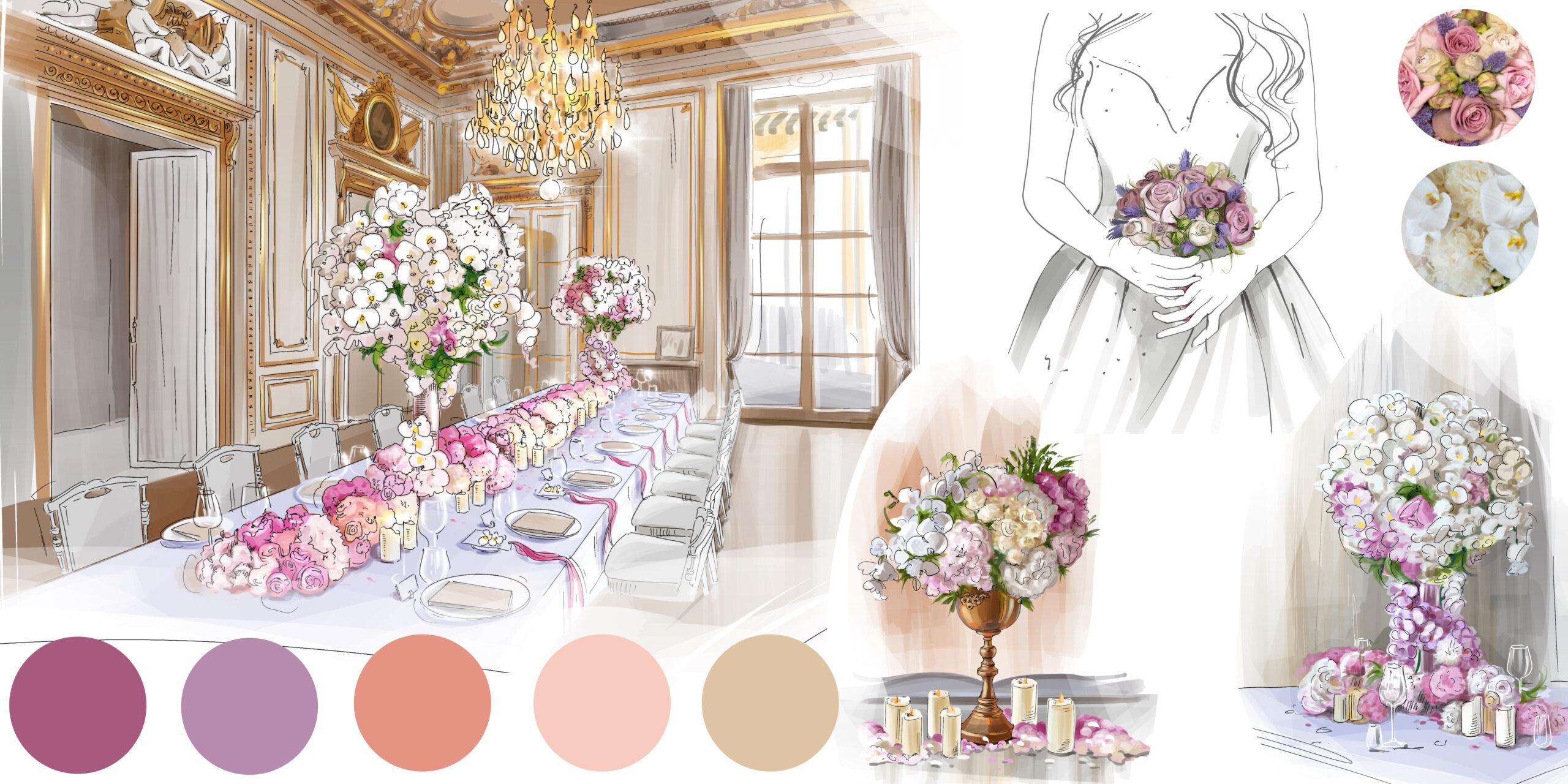 Роскошный свадебный дизайн в Париже