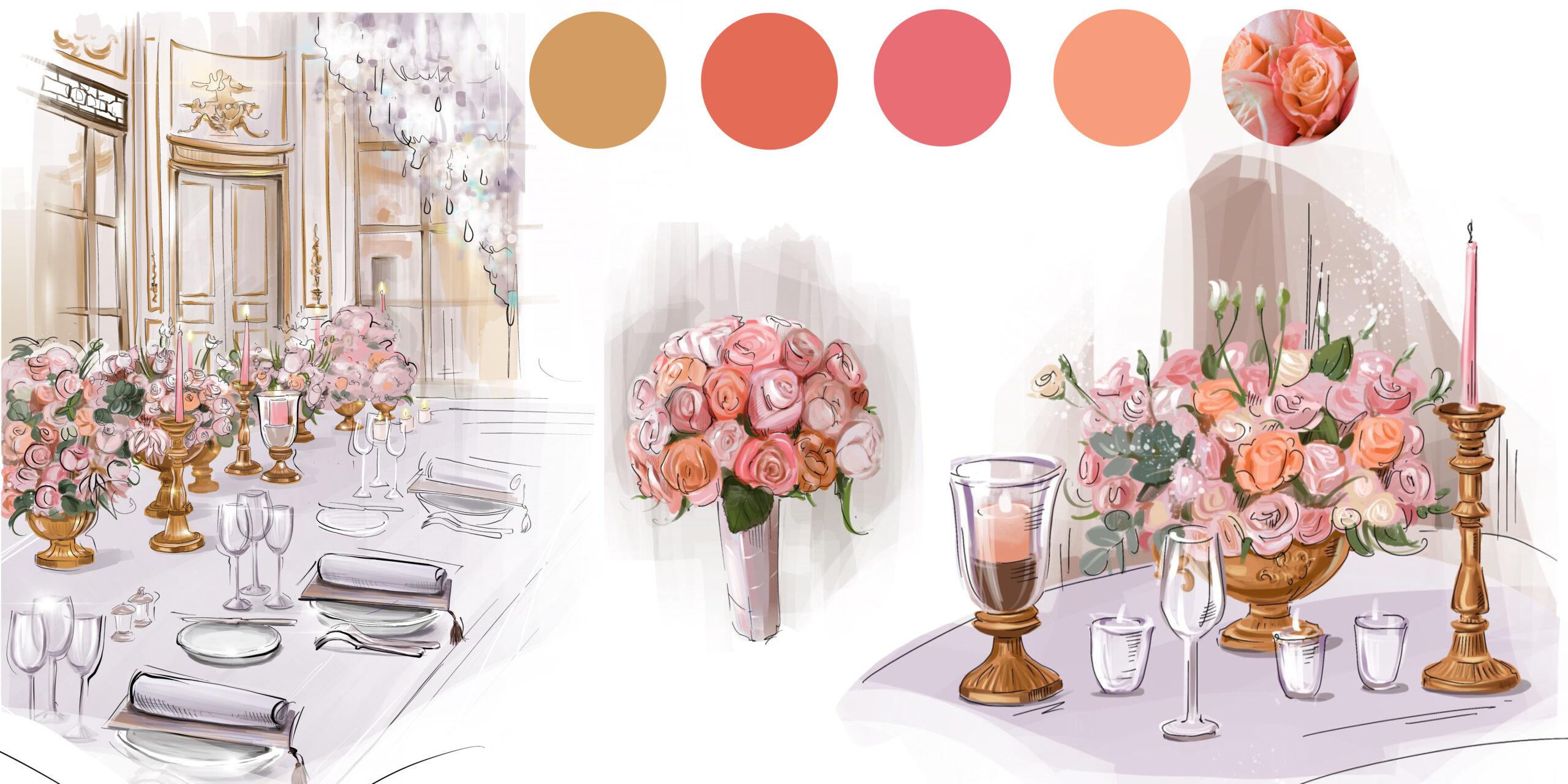 Роскошная свадьба в Париже