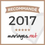 BADGE RECOMMANDE MARIAGE .NET