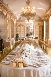 Wedding reception in luxury chateau in France