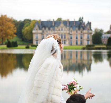 Mariage doré et sophistiqué en France